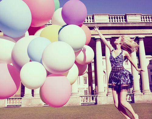 big pastel balloons