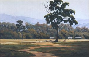 Country Morning - Oil on canvas - Artist John Beattie