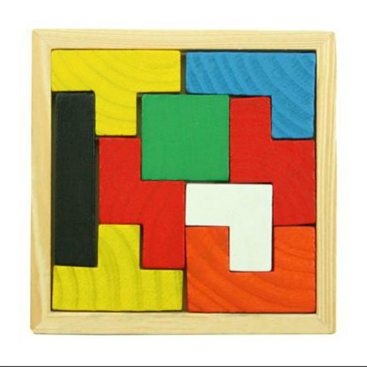 Fast Shipping 9 Tetris Baby Toys Educational Wooden Tangram Brain Teaser Puzzle Game Toy For
