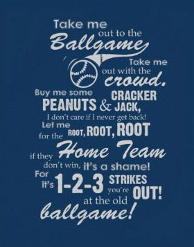 Take Me Out To The Ballgame - I would love to play this on an organ at a big stadium!