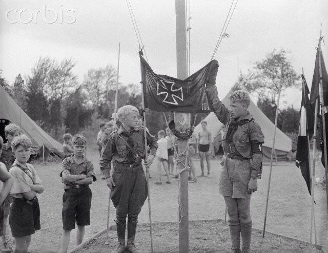 Children of the German American Bund honor Hindenburg.