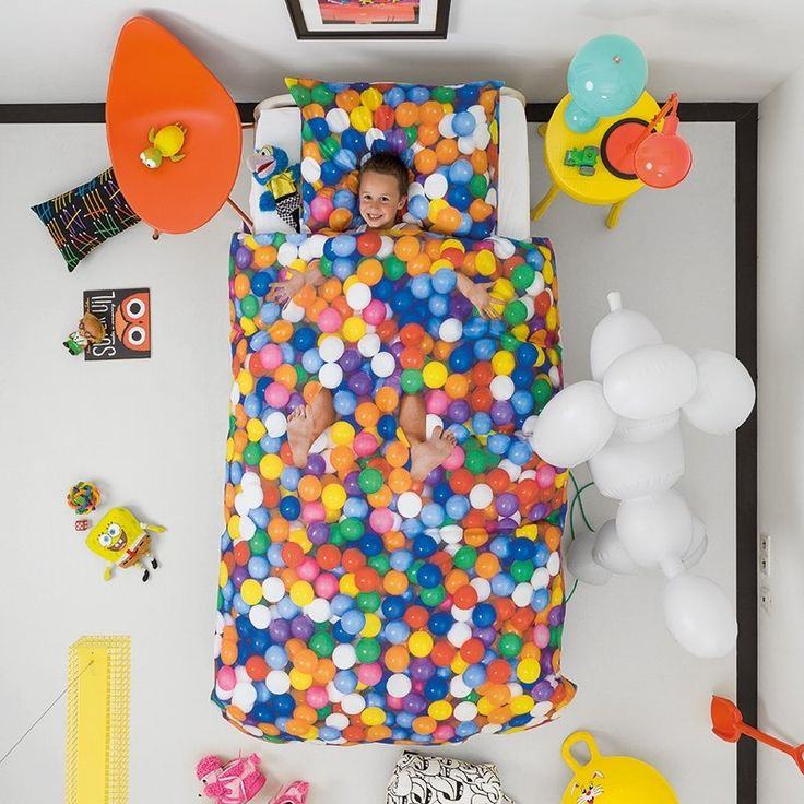 Set di lenzuolo/copripiumino + federa Ball Pit 140 x 220 cm