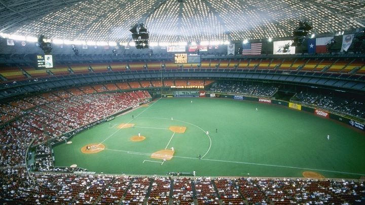 Astrodome -Tenants: Houston Astros (MLB), Houston Oilers (NFL) -Capacity: 42,217 (original), 54,816 (final) -Surface: Grass (1965), Astroturf -Cost: $35 Million, $60 Million (expansions) -Opened: April 24, 1965 -Closed: October 9, 1999