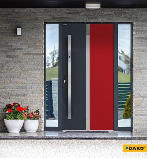 Zewnętrzne drzwi aluminiowe - model EUNIKA (drzwi nakładkowe)
