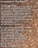 god carrying you footsteps poem - Google Search