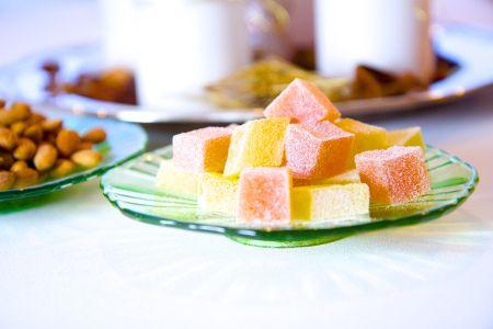 Fruktgelé og salte mandlar - perfekt julesnop!