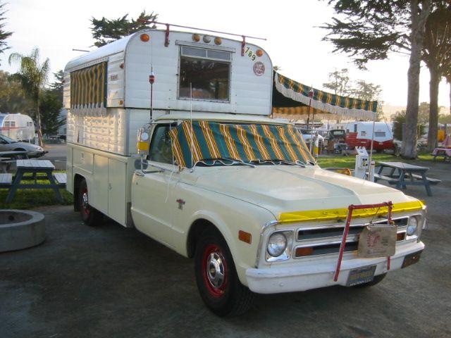 Campers vans pickup campershel 1968 chevy trucks alaskan campers c