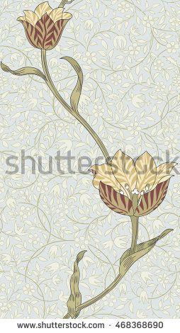 Современный цветочный бесшовные модели для вашего дизайна.  Печать на бумаге или…