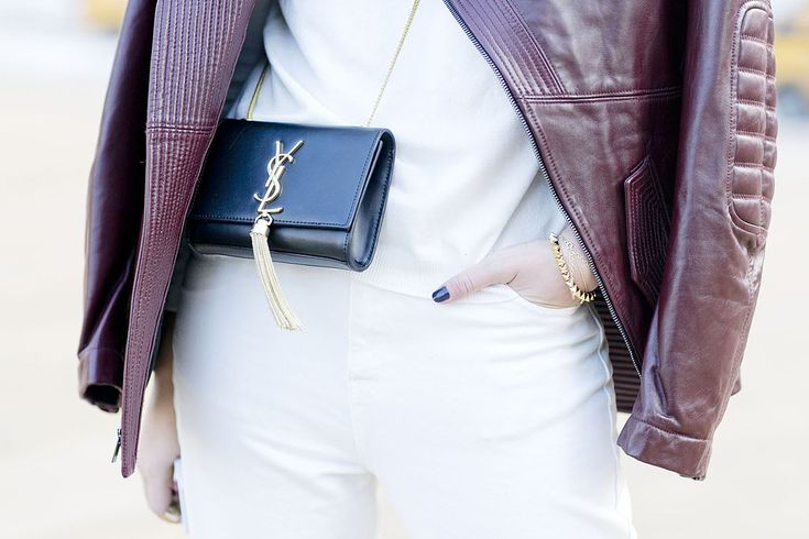 Delicate gold jewels and a dainty YSL bag - Street Style ...