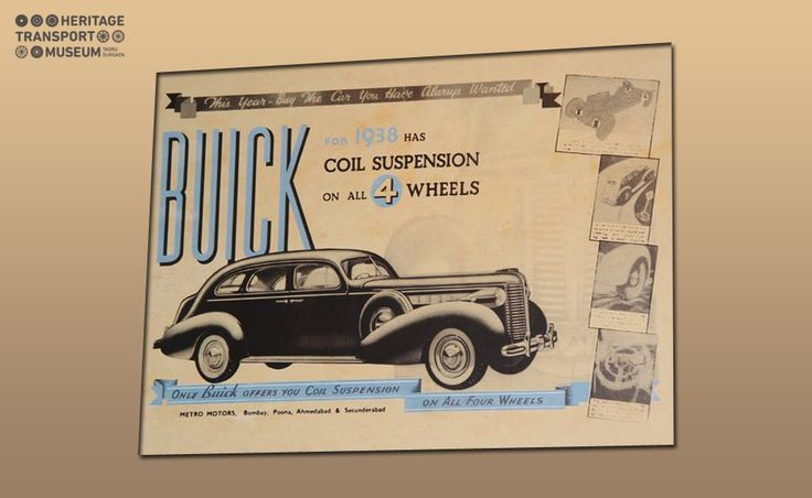 The advertisement cum sales brochure for Buick 1938 car is part of the archival collection in the museum.  #advertisement #brochure #Buick #car #vintagecar #archival #vintagecollection #vintagestyle #heritage #transport #museum