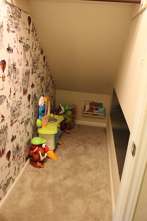 Playroom Under The Stairs Rack Shelf Spice Racks And