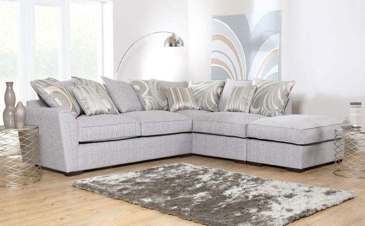 Buoyant Fantasia Grey Fabric Corner Sofa Only £999.99   Furniture Choice