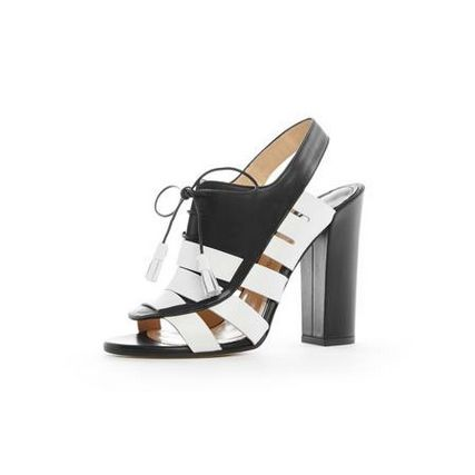 You can't go wrong with these monochrome 'Dmittrios' heeled sandals by Paul Andrew <3