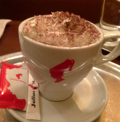 Never underestimate the power of presentation. Austrian import Julius Meinl serves its hot chocolate ($3.55) in grand European style: a mug ...