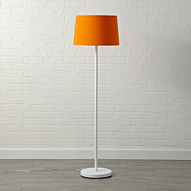 Mix and Match Orange Floor Lamp Shade