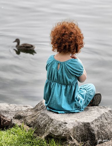 By the water, watching the ducks