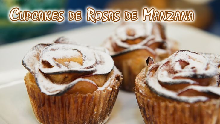 Cupcakes de Rosas de Manzana o Apple Rose Pastries