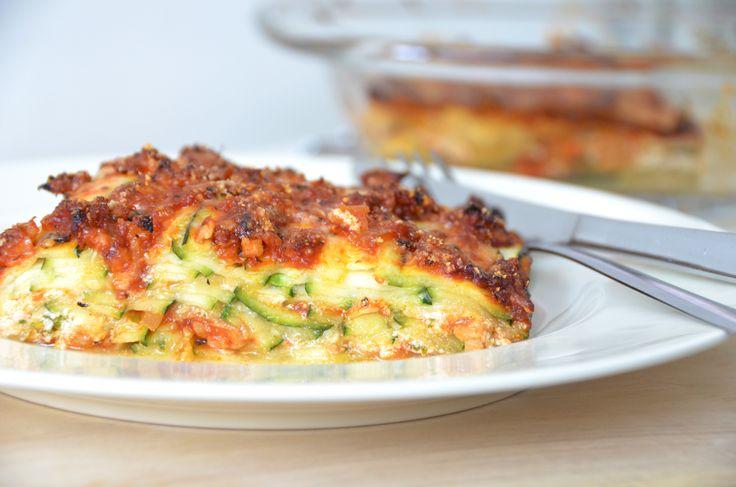Courgette Lasagne Ricotta en Kipgehakt - HealthiNut