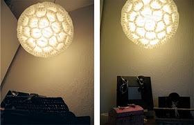 Lamp made of muffinpaprs :))