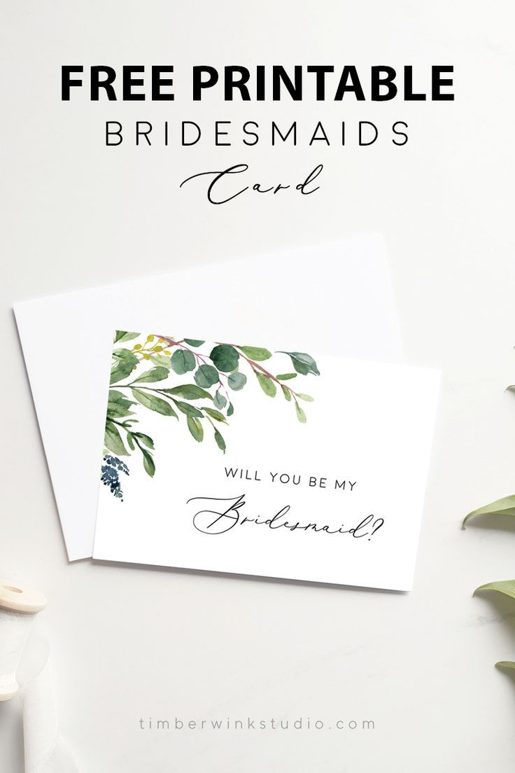 photograph relating to Free Printable Bridesmaid Cards referred to as Totally free Printable Do it yourself Bridesmaids Card Template Obtain PDF within
