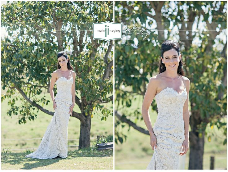The Caleche Missy Gown On One Of Our Stunning Brides Featuring Contrast Satin With Cream Guipure Lace