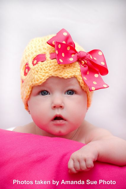 Ravelry: Sunny Bow Hat for Infant and Toddlers pattern by Janet Spirik