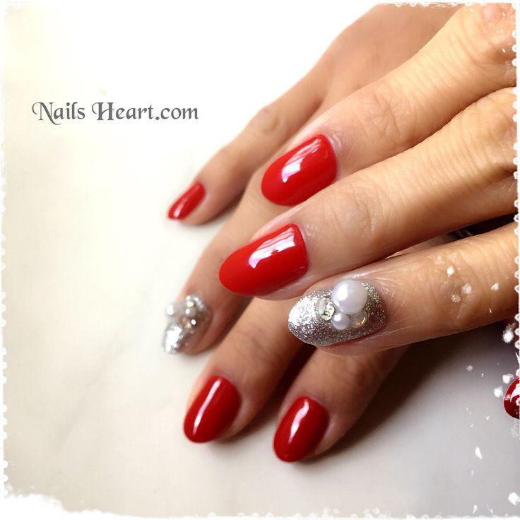 いいね!19件、コメント1件 ― Nails Heartさん(@heart.nails)のInstagramアカウント: 「Red&Perls クリスマスもお正月も OKネイル〜 ✨✨✨❄️🎄🎍 #ネイルズハート山手 #ネイルサロン横浜 #rednails #pearlnails #winternails…」