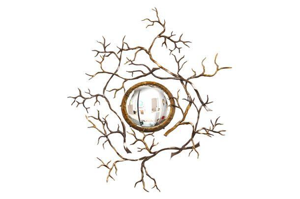 "Vан der Straeten.  Дизайнер Эрве ван дер Стратен. Зеркало ""Ветви"", полированная бронза, 2003."