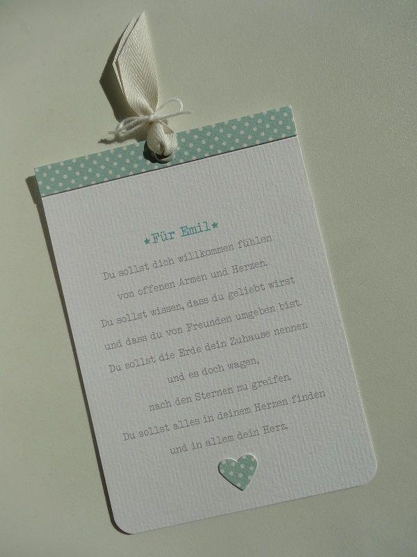 spruch zur geburt karte zur geburt emil von jennifer royer r sl made by jenny karten. Black Bedroom Furniture Sets. Home Design Ideas