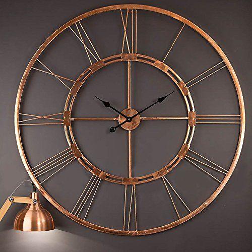 handmade large copper color metal wall clock metal wall a