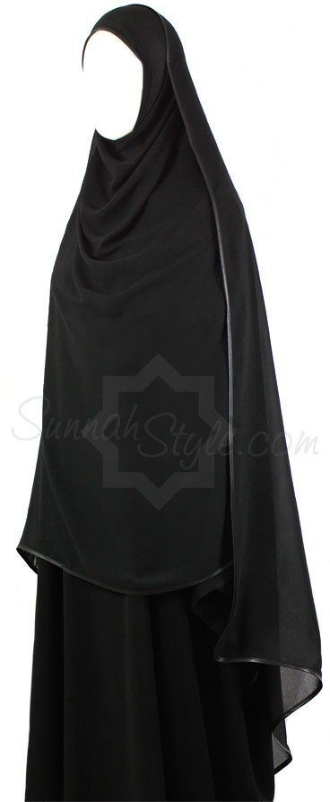 Satin Trimmed Shayla - Long Extra Large by Sunnah Style #SunnahStyle #hijabstyle #satintrim #shayla