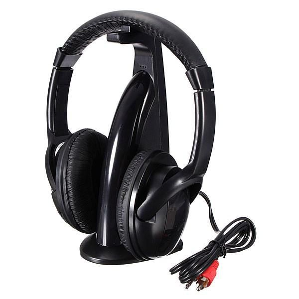5in1 Wireless Headphone HiFi Monitor FM MIC for PC TV DVD Audio Mobile