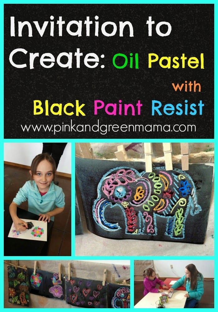ADULT & CHILD ACTIVITY & EXHIBITION - Mother's Day/Fathers Day  - Pink and Green Mama: Invitation to Create: Oil Pastel with Black Paint ...