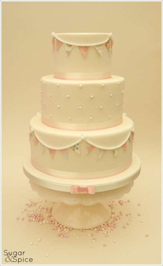 Sweet Bunting Wedding/Birthday cake https://www.facebook.com/SugarandSpiceGourmandise