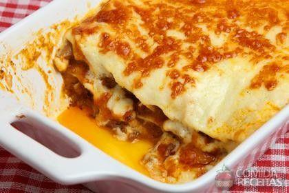 Receita de Lasanha à bolonhesa com massa de pastel em receitas de massas, veja essa e outras receitas aqui!