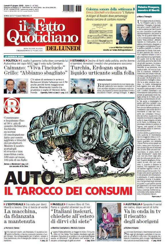 Il Fatto Quotidiano (17-06-13) Italian | True PDF | 24 pages | 12,55 Mb