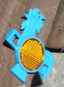 Bike reflectors out of kellogs cereal boxes! I miss free toys with breakfast!