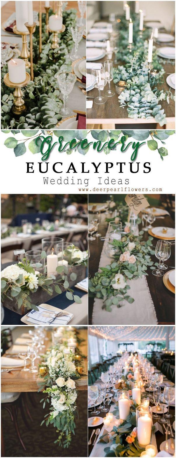 Grün Eukalyptus rustikale Hochzeit Dekor Ideen # grün #hochzeit #hochzeitsidea…