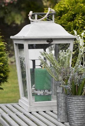 Tall Wooden Lantern - £98.00 - Hicks and Hicks