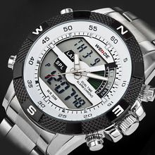 2016 Luxury Brand WEIDE Men Army Military Watch Men's Quartz Hour LED Digital Clock Full Steel Wrist Watch Men Sports Watches(China (Mainland))