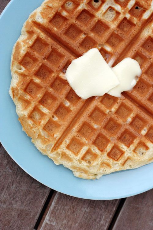 My most favorite go-to waffle recipe - simple, slightly sweet, always reliable, from @This Week for Dinner
