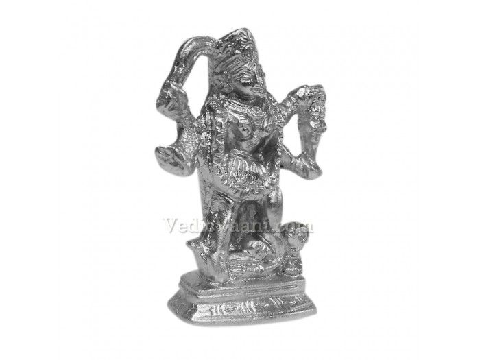 Parad Maa Kali - 88 gms buy online from India : Dimensions: 2.25 inches (H) x 1.5 inches (W) x 0.8 inch (thickness) Weight: 88 gms As per the Vedas, there is nothing more pure, pious and auspicious in Kaliyug than Parad. Parad is also found effective in controlling various diseases like High Blood Pressure, Asthma. Parad has special significance in Ayurveda too. Many ayurvedic medicine use parad as the chief ingredient for giving energy.