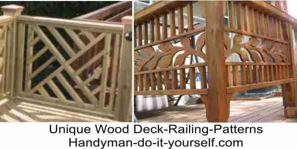 DIY unique wood deck railing patterns deck Pinterest