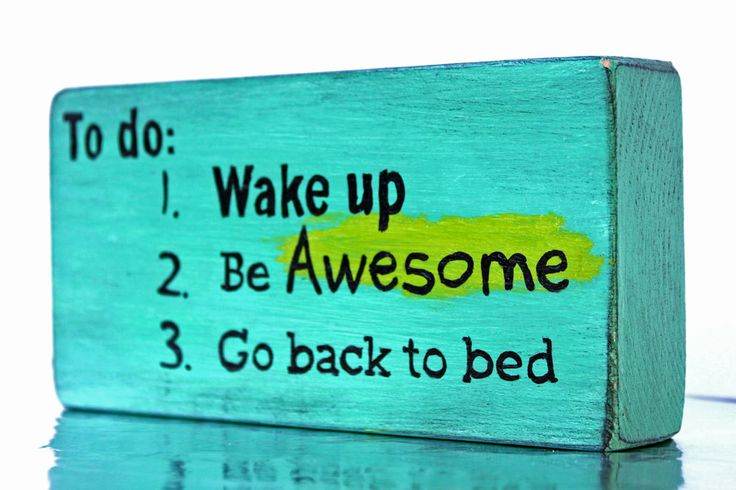Wake Up Be Awesome Hand Painted Sign Teen Room by LoweryDesigns, $12.95
