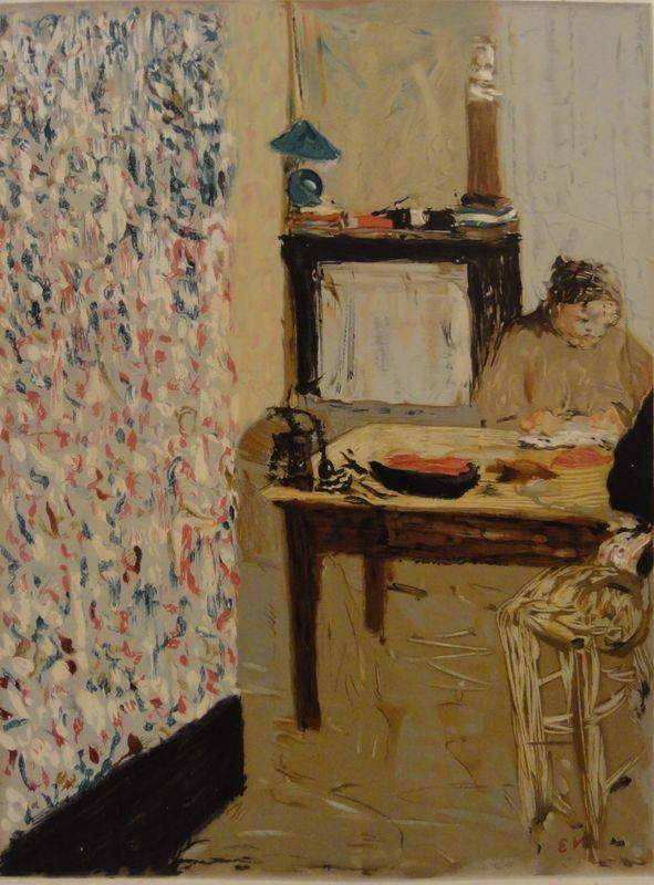 Edouard Vuillard (1868-1940)  Intérieur, N/D