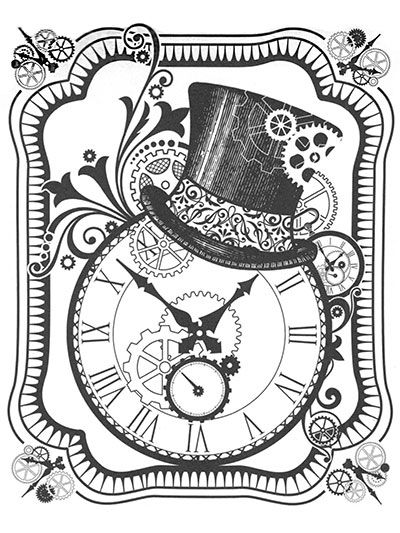 Steampunk Clock With Top Hat