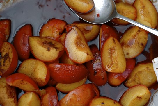 Cinnamon Baked Plums - the British Larder