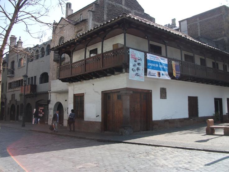 Casa del Corregidor , calle Esmeralda 749 , centro Santiago .