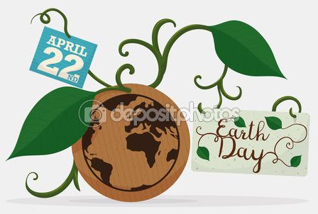 Earth Reminder with Leaves, Vines and Cards for Earth Day