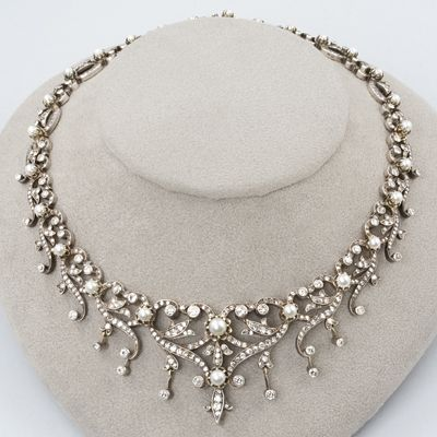 Antique Pearl Necklaces Jewelry